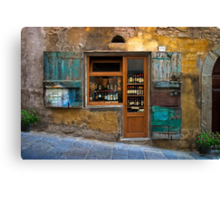 Tuscany wine shop Canvas Print