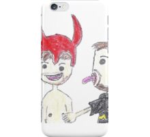 Ze and Dan In Love (White) iPhone Case/Skin