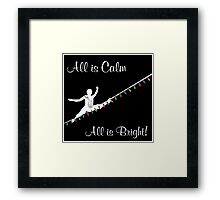 Holiday Light Wire Framed Print