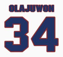 Basketball player Hakeem Olajuwon jersey 34 by imsport