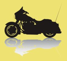 Cruiser Motorcycle Silhouette with Shadow Baby Tee