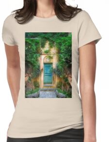 Tuscany doorway Womens Fitted T-Shirt