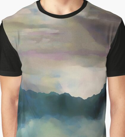 Early Morning Clouds Consume the Mountains Graphic T-Shirt