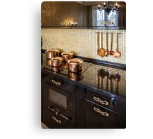 Interior of modern luxury kitchen Canvas Print