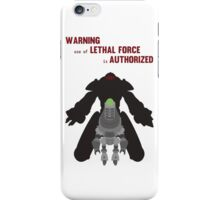 Lethal force iPhone Case/Skin
