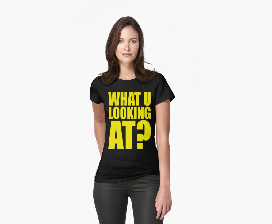 WHAT YOU LOOKING AT? by Awesome Rave T-Shirts