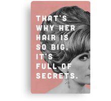 Full of Secrets Canvas Print