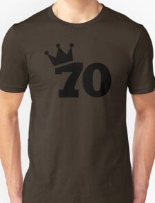 Crown 70th birthday Unisex T-Shirt