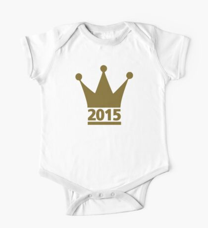 Year 2015 crown One Piece - Short Sleeve