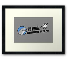 So Long and Thanks For All The Fish Framed Print