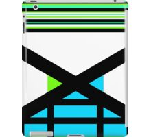 Dagaz Day Contemporary Norse Rune Art Blue White Black Green iPad Case/Skin