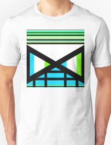 Dagaz Day Contemporary Norse Rune Art Blue White Black Green T-Shirt