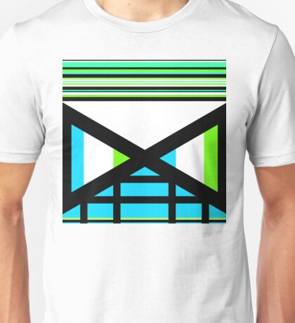 Dagaz Day Contemporary Norse Rune Art Blue White Black Green Unisex T-Shirt