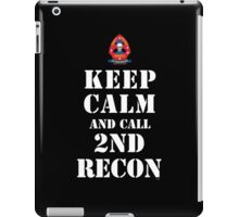 KEEP CALM AND CALL 2ND RECON iPad Case/Skin