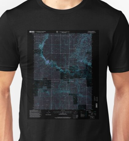 USGS TOPO Map Colorado CO Grover SE 233180 1997 24000 Inverted Unisex T-Shirt