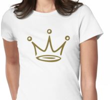 Crown gold Womens Fitted T-Shirt