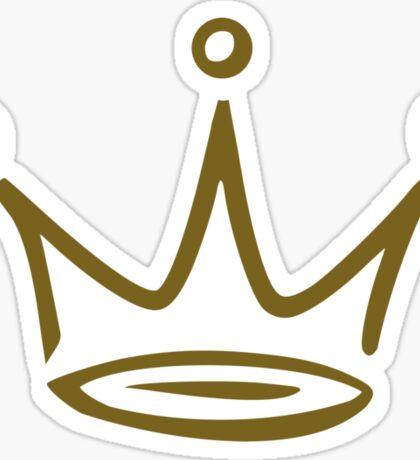 Crown gold Sticker
