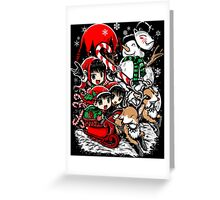 Kiddie Christmas Sleigh Ride Greeting Card
