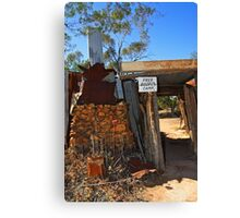 Fred Bodel's Camp at Lightning Ridge Canvas Print