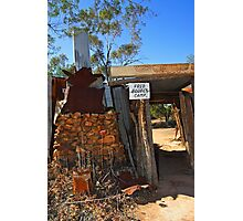 Fred Bodel's Camp at Lightning Ridge Photographic Print