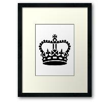 Black king crown Framed Print