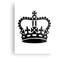 Black king crown Metal Print