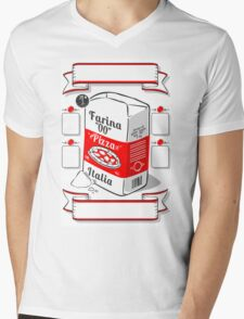 Vintage Hand Drawn Advertising Flour Pizza Page Mens V-Neck T-Shirt