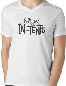 Let's Get In-Tents Mens V-Neck T-Shirt