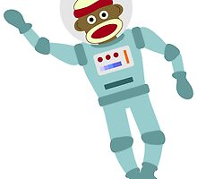 Sock Monkey Astronaut by pounddesigns