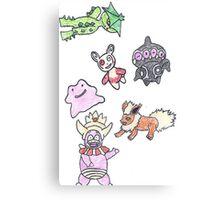 Pokemon Group Canvas Print