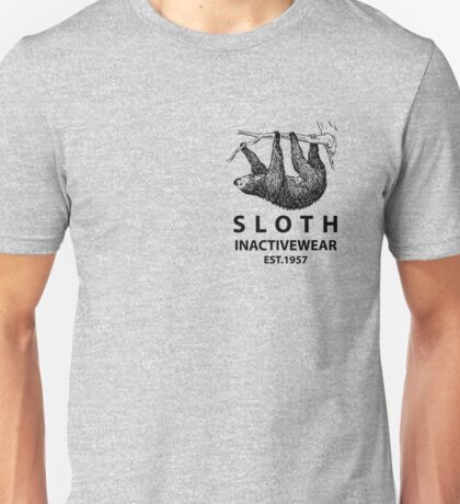 Sloth Inactivewear (Pocket) Unisex T-Shirt