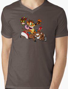hog wild Mens V-Neck T-Shirt