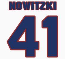 Basketball player Dirk Nowitzki jersey 41 by imsport