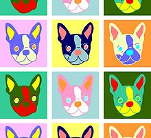 Boston Terrier Pop Art by pounddesigns