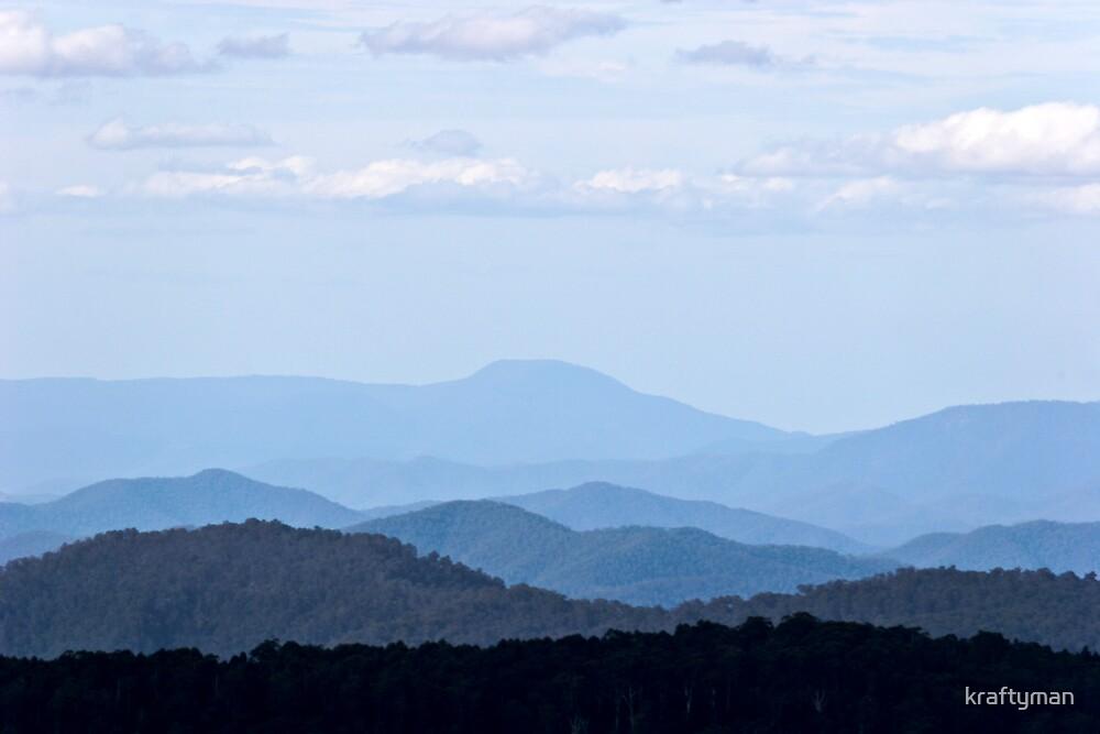 View from Mt Buller by kraftyman