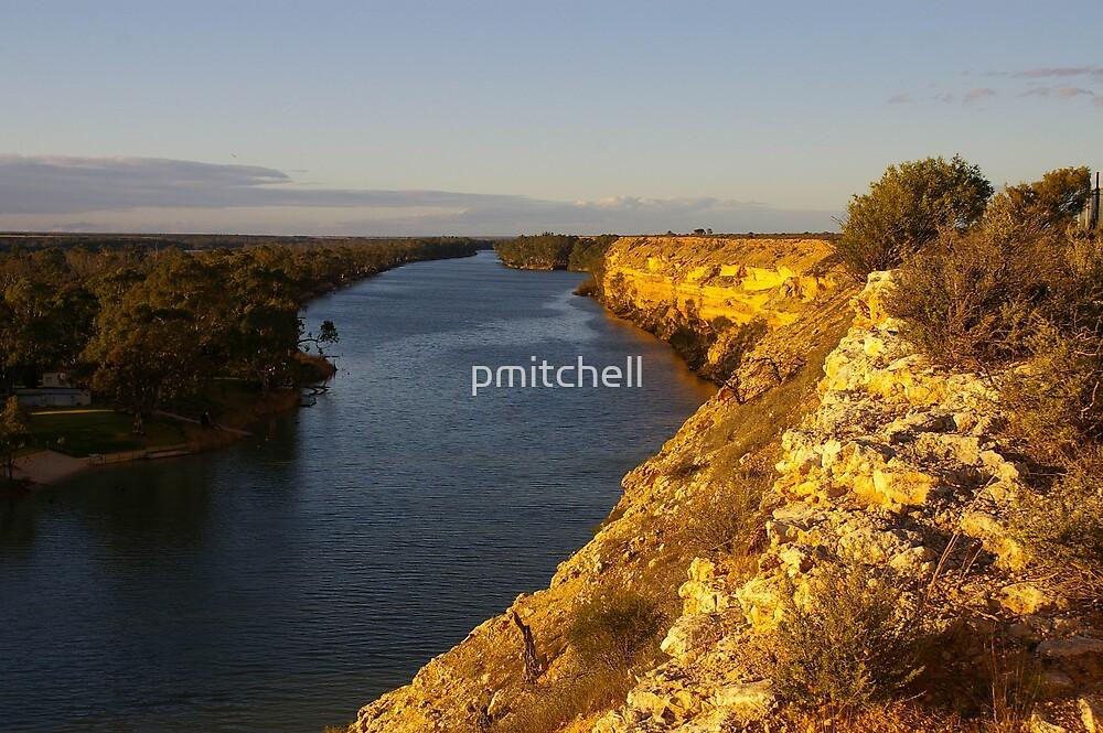 River Murray cliffs, Near Blanchetown, South Australia by pmitchell