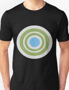 Glitch Subway subway map next stop blue T-Shirt