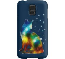 Galactic Space Pussy On Milky Way, Cat, Space, Galaxy Samsung Galaxy Case/Skin