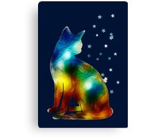 Galactic Space Cat On Milky Way, Cat, Space, Galaxy Canvas Print