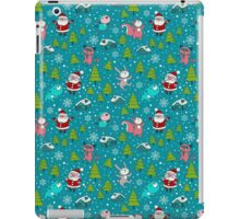 Christmas Forest Animals and Santa Pattern. Merry Christmas! iPad Case/Skin