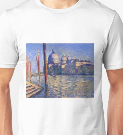 Claude Monet - The Grand Canal And Santa Maria Della Salute Unisex T-Shirt