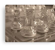 Chess Quarter Canvas Print