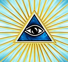 All Seeing Eye Of God, Flames - Symbol Omniscience by nitty-gritty