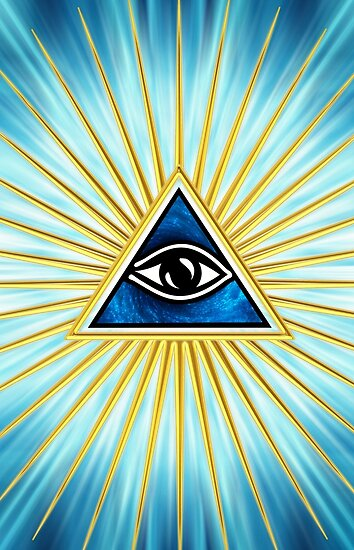 All seeing eye of god flames symbol omniscience quot posters by nitty