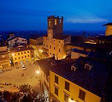 Cortona Tuscany clock tower by SpikeFlutie