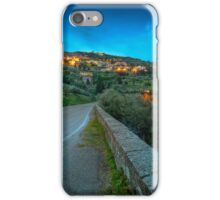 Cortona Tuscany at dusk iPhone Case/Skin