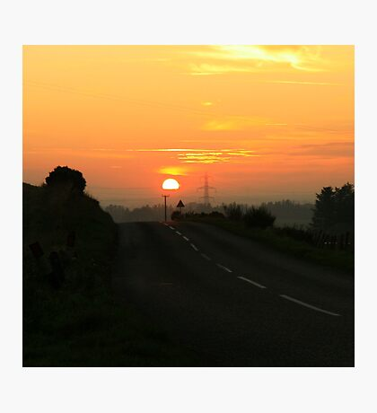 Sunset over Aberdeenshire Photographic Print