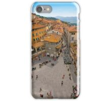 Piazza Republicca in Cortona Tuscany iPhone Case/Skin