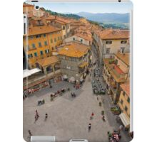 Piazza Republicca in Cortona Tuscany iPad Case/Skin