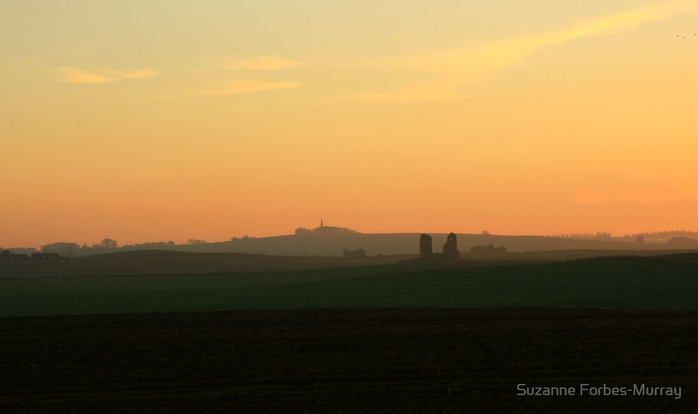 Federate Castle in the Evening Glow by Suzanne Forbes-Murray